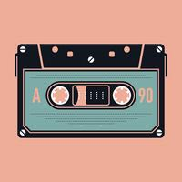 Cassete áudio analógico compacto