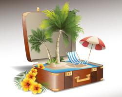 Summer Sea Vectors with Palm Trees