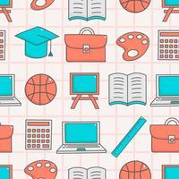 Söt sömlöst mönster med utbildning