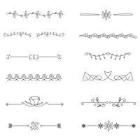 Set divisori disegnati a mano