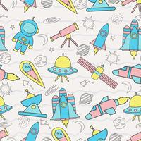 Cute seamless pattern with space
