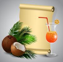 Fruta tropical de coco