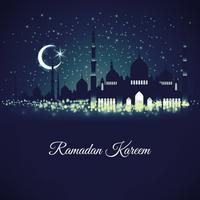 plantilla de diseño en el generoso Ramadán