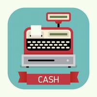 Cashier machine round corners icon