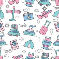 Cute seamless pattern with vacation