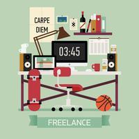 Freelance werkruimte interieur