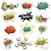 Vecteur série d'icônes de bandes dessinées