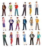 Collection vector illustrations of business people