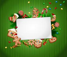 Vektorabbildung Weihnachtssüßer Hintergrund
