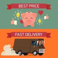 Meilleur prix et modèles de bannière de livraison rapide