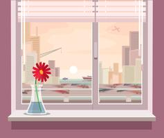 Vector illustration of a view from the window