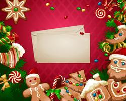 Ilustração vetorial fundo doce de Natal