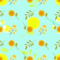 Lindo estampado de flores sin costuras para verano, otoño, primavera.