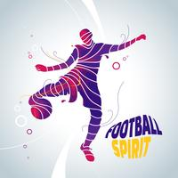 illustration de football soccer splash