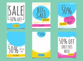 Abstract label sale vector
