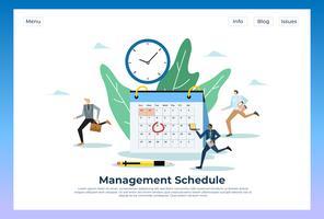 Management Schedule Web Landing