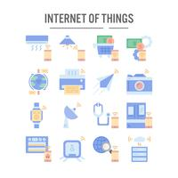 Internet of things icon in flat design