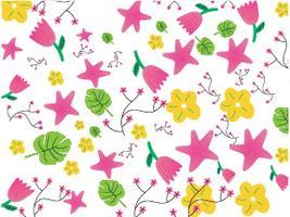 Flower pattern fabric design vector