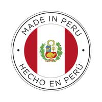 Made in Peru flag icon.