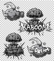 Vektor uppsättning monokroma serier ikoner