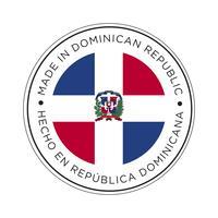 Hecho en el icono de la bandera de República Dominicana.