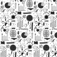 Pattern With Line Hand Drawn Doodle Business Background. Handmade Vector Illustration.