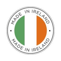 made in Ireland flag icon.