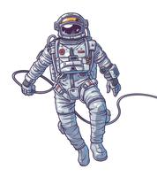Vector illustration cosmonaut,