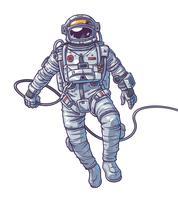 Ilustración vectorial cosmonauta,