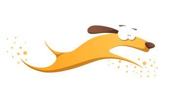 Funnu, mignon, fou chien jaune.