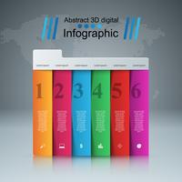 Business Infographics Origami Style Vektor illustration.