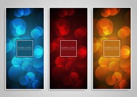 Projetos de banner de luzes de bokeh