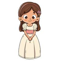 Child making the first communion vector