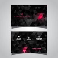 Abstract modern business card with a low poly design