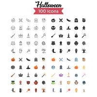 Halloween-Icon-Set Vektor