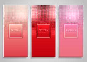 Projetos de banner com desenhos de ponto de diamante de meio-tom