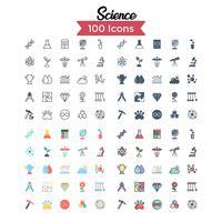 Wissenschaft Icon Set Vektor