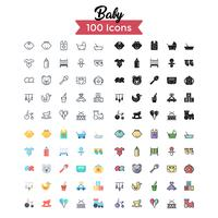 Baby Icon Set Vektor