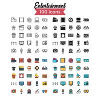 entertainment icon set vector