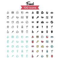 voedsel icon set vector