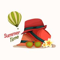 hot hat summer time vector