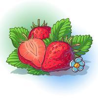 Ilustración vectorial de una fresa con hojas