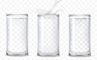 Set de vasos de iconos con una bebida