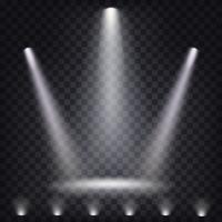 Set med vektor sceniska strålkastare