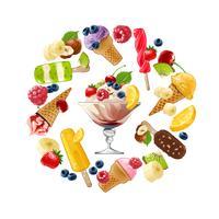 Establecer iconos vectoriales de helado