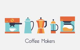 Cafeteras ilustración vectorial