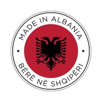 Made in Albania flag icon.