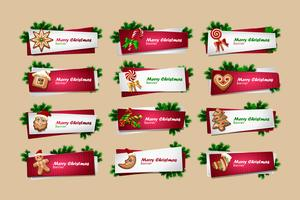 Set of vector New Year banners