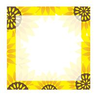 Cadre de tournesol carré avec espace de texte.