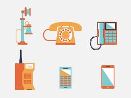 Telefon-Vektor-Illustration
